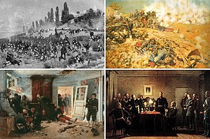English: Collage of the Franco-Prussian war