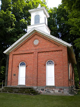 National Register of Historic Places listings in Steuben County, Indiana - Image: Collins School front (NRHP)