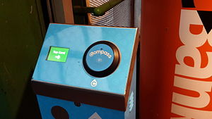 Compass Card (TransLink) - A Compass Card reader located at Metrotown station