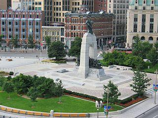 square in Ottawa, Canada
