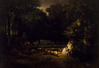 Constant Troyon - Image: Constant Troyon The Bathers (Clearing in the Forest) Google Art Project