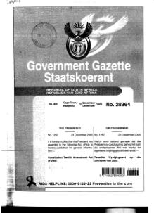Constitution Twelfth Amendment Act of 2005 from Government Gazette.djvu