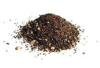Masala chai - Spices and cut tea leaves.