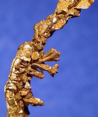 Mufulira - Detail of a specimen of native copper from the Mufulira Mine