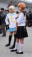 Cosplayers of Chitoge Kirisaki and Marika Tachibana in FF25 20150131.jpg
