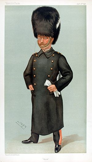 "Lord Edward Gleichen - ""Glick"" Count Gleichen as caricatured by Spy (Leslie Ward) in Vanity Fair, January 1898"