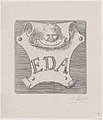Counterproof of an impression from a name plate for Edward D. Adams MET DP877166.jpg