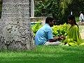 Couple outside Temple of Somnathpur - Near Mysore - India.JPG