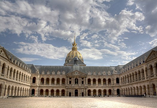 Honorary Courtyard (French: Cour d'Honneur) without National colors.