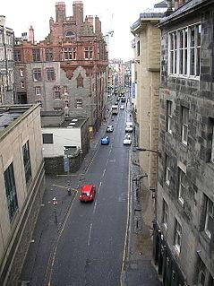 Cowgate street in Edinburgh, Scotland