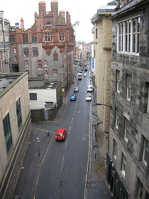 Cowgate - The Cowgate, viewed from George IV Bridge
