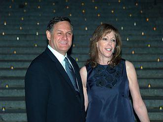 Craig Hatkoff - Hatkoff and Jane Rosenthal at a Vanity Fair party.