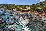 Crete, Spinalonga Peninsula, tourist landing for barbecue 2019.jpg