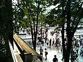 Crosswalk between Yodobashi Camera Akihabara south-west entrance and Akihabara Station Chūō entrance, viewed from Atré vie Akihabara (2010-08-15 17.22.07).jpg