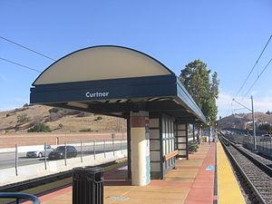 Curtner station - Curtner Station platform, 2012