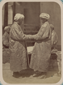 Customs of Central Asians. Two Men Greeting Each Other WDL10836.png