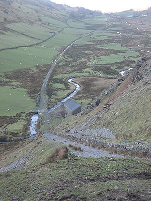 Croesor Tramway - Croesor valley from the top of the Blaen y Cwm incline