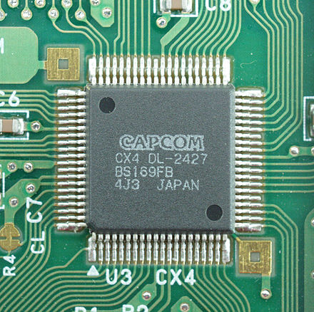 The Cx4 coprocessor chip in Mega Man X2. Cx4.jpg