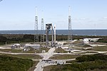 Cygnus CRS OA-6 Atlas V rocket at launch pad (25847453182).jpg