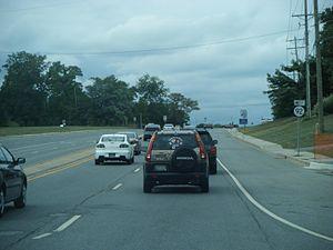 Delaware Route 92 - Westbound DE 92 past intersection with DE 261