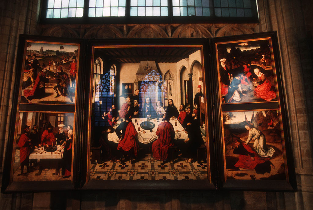 File:DIRK BOUTS PAINTING IN ST. PETERS CHURCH - LEUVEN ...