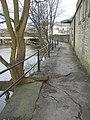 Damage caused by a tree, riverside footpath, Shipley - geograph.org.uk - 334382.jpg