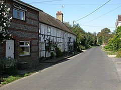 Damerham, half-timbered cottages - geograph.org.uk - 1484981.jpg