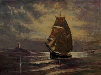 "Dan Weggeland - Untitled Danquart Anthon Weggeland painting • Oil on canvas • 23.5 "" x 17"""