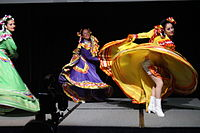 Dancing at the Wikimania 2015 Opening Ceremony IMG 7598.JPG
