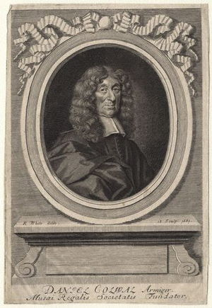Daniel Colwall - Daniel Colwall, 1681 engraving by Robert White.