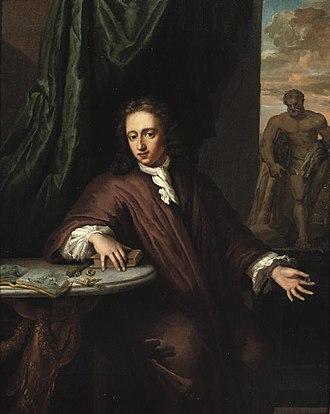 Daniël Haringh - Portrait of a goldsmith with the Hercules Farnese