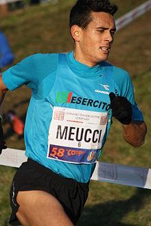 Daniele Meucci durante il 58º Cross del Campaccio nel 2015