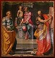Daniele da volterra, madonna in trono col bambino tra i ss. pietro e paolo, 1545, dai ss. pietro e paolo a ulignano di volterra 01.jpg