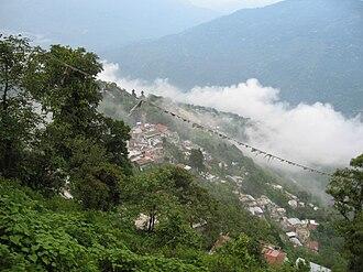 Observatory Hill, Darjeeling - Image: Darjeeling View from The Mall