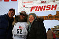 Dave DeCaro and parents at Iditarod finish (4458481929).jpg