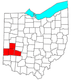 Map of Metro Dayton, The Miami Valley, Greater Dayton