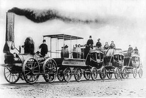 Albany and Schenectady Railroad - The DeWitt Clinton as it would have appeared on its inaugural run in 1831.