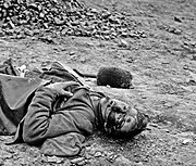 Dead soldier (American Civil War - Siege of Petersburg, April 1 1865) (2)