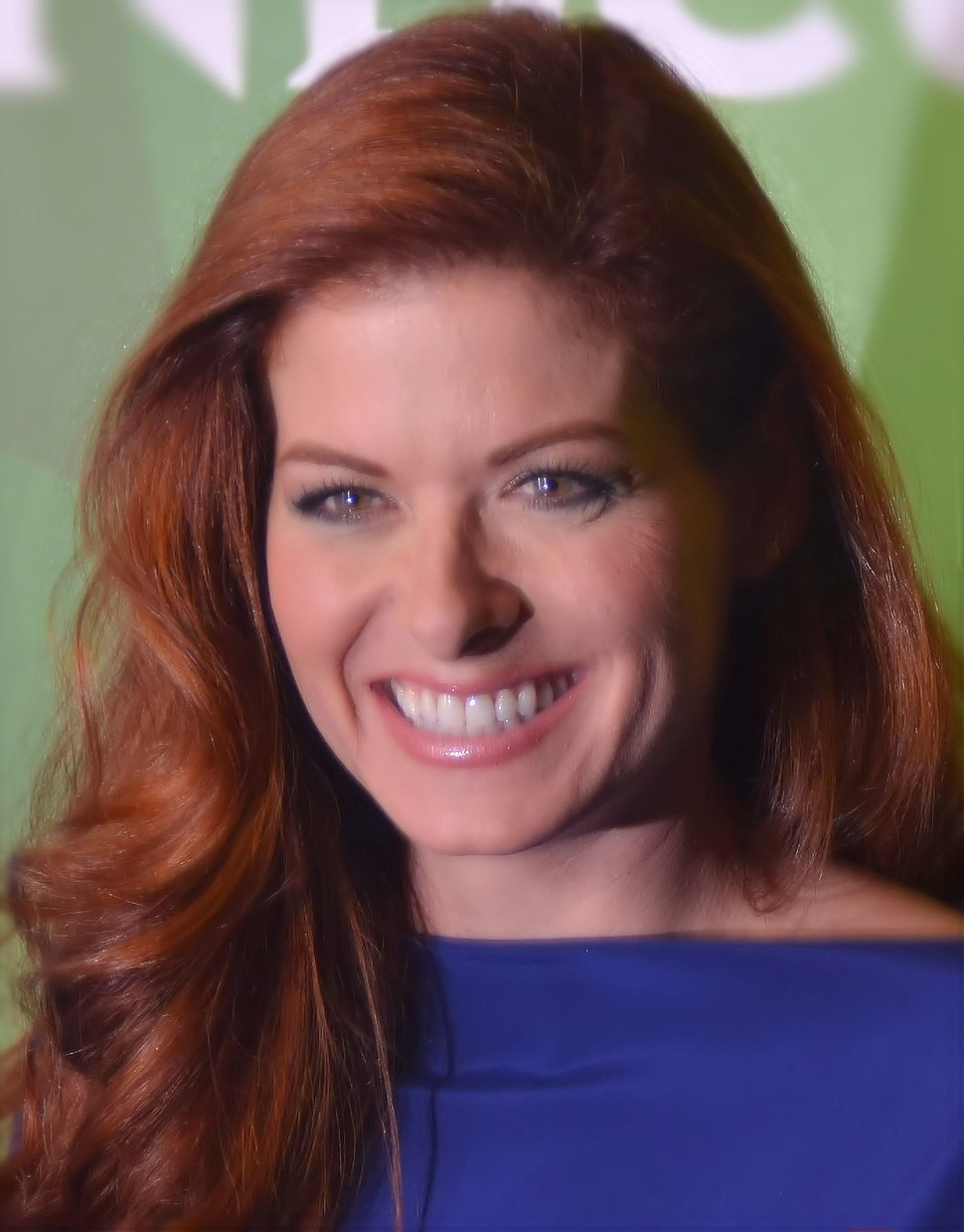 Debra Messing July 13 2014 cropped and lighting corrected