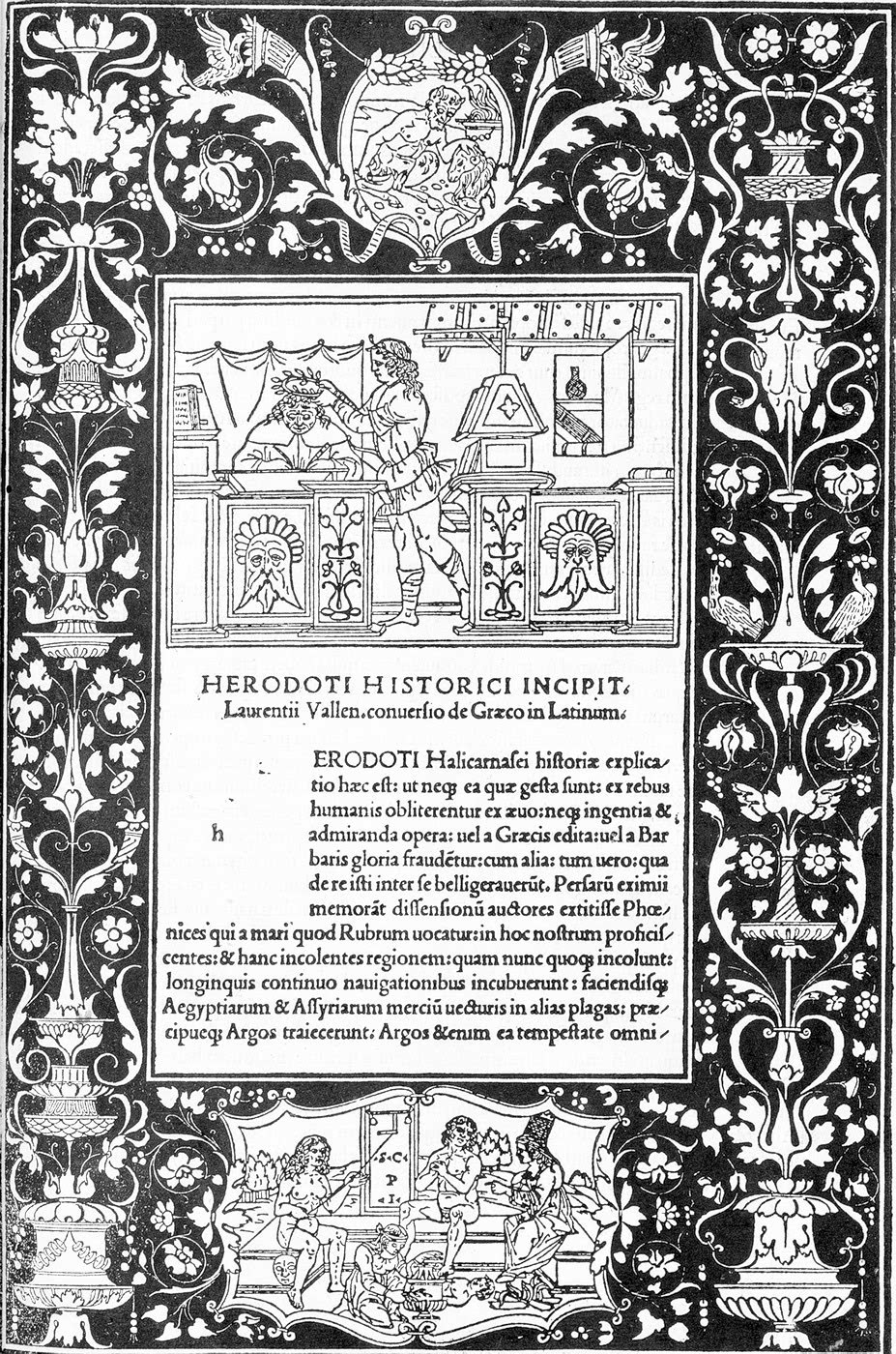 Dedication page for the Historiae by Herodotus printed at Venice 1494