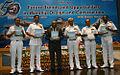 Defence Secretary RK Mathur, CNS Admiral RK Dhowan, DGND Rear Admiral AK Saxena, VCNS Vice Admiral S Lanba, PDND Commodore NN Nagpal, and CWP&A Vice Admiral AV Subhedar.JPG