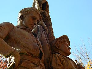 Mount Hope Cemetery (Rochester) - Detail of the Civil War monument.