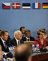 Defense.gov News Photo 100609-F-6655M-004 - Secretary of Defense Robert M. Gates listens to the opening remarks of the North Atlantic Treaty Organization Defense Ministerial at NATO.jpg