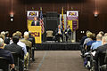 Defense Secretary Ash Carter speaks to students and faculty at Arizona State University as he launches a trip to Japan and Korea to strengthen and modernize America's alliances in Northeast Asia 150406-D-AF077-074.jpg