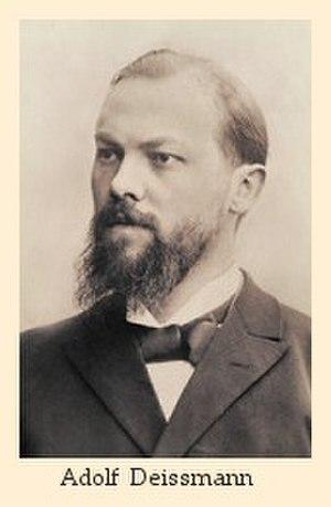 Gustav Adolf Deissmann - Image: Deissmann