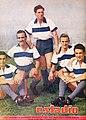 Delantera UC 1947-Vásquez, Monestés, Infante, Prieto y Riera.jpg