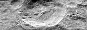 Delporte (crater) - Oblique view from Apollo 15 Panoramic Camera