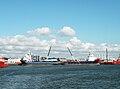 Den Helder, marinehaven, Troms Fjord (Noorwegen) en schip uit Aberdeen.jpg