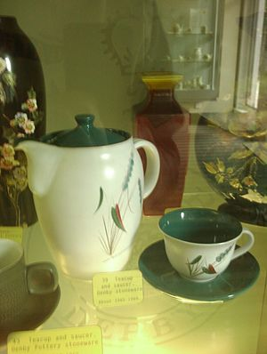 Denby Pottery Company - Denby pottery from the 1960s now in Derby Museum.