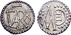 Carloman I - A denarius minted by Carloman I